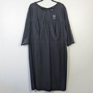 Lane Bryant Lace Black Sheath Dress Size 26 NWT